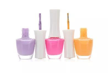 Various types of nail polish